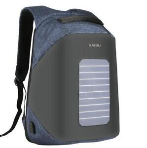 BACK TO SCHOOL - WATERPROOF SOLAR BACKPACK WITH USB CHARGING