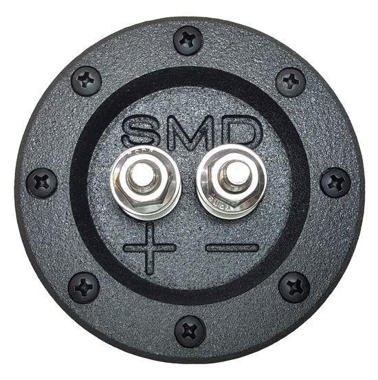 """SMD 1 Channel Round Speaker Terminal w/ Grade 8 Terminals 3/4"""" Inch PVC (Black)"""
