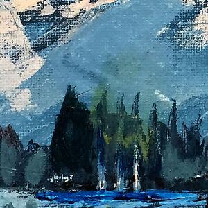 """""""Kinbasket Lake"""" original acrylic painting Edmonton Edmonton Area image 3"""