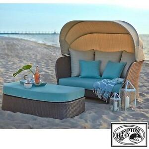NEW HAMPTON BAY WICKER DAY BED - 132151897 - DEERFIELD ALL WEATHER DAYBED BEDS OTTOMAN OTTOMANS CHAIR CHAIRS SEATING ...