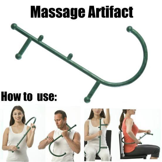 Thera Cane Deep Pressure Massager Self Massager and Manual Green OG