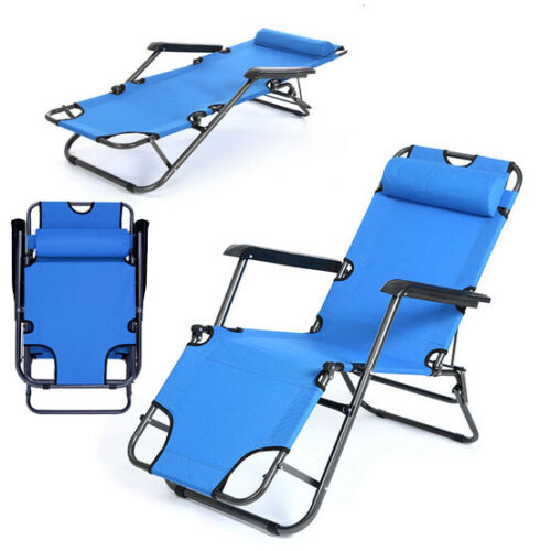 Upgraded Zero Gravity Folding Chaise Lounge Chair Portable R