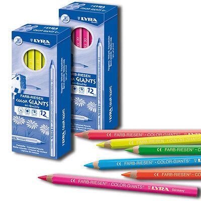 Buntstifte Lyra Neon-Farbriesen, 12 Stk., freie Farbwahl - Malstifte