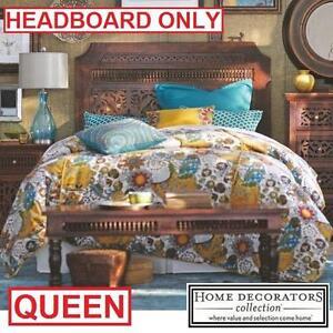 NEW* HDC MAHARAJA QUEEN HEADBOARD - 123775537 - HOME DECORATORS COLLECTION HAND CRAVED WALNUT FINISH HEADBOARDS BEDS ...