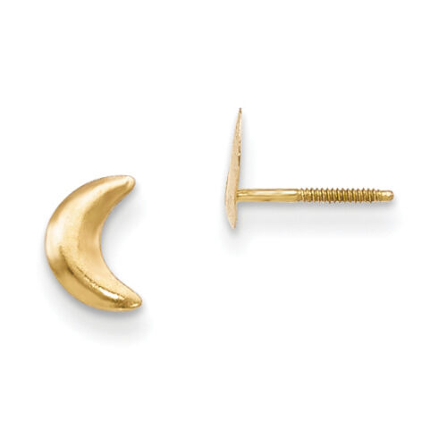 14K Madi K Moon Post Earrings