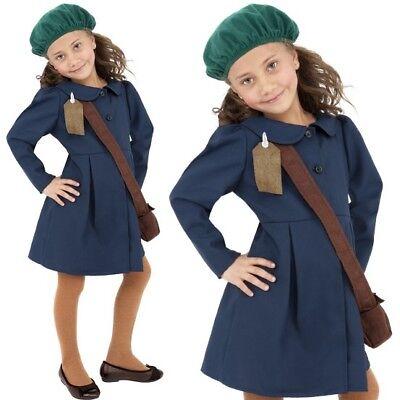 40er Jahre 1940er Kriegszeit Schulmädchen Kostüm Kinder Outfit Blau von - 40er Jahre Kleid Kostüm