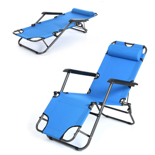 Zero Gravity Folding Chaise Lounge Chair Outdoor Pool Patio