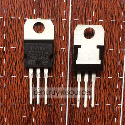 10pcs Tip102 Npn Silicon Power Darlingtons To-220