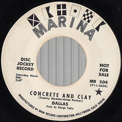 DALLAS, Concrete And Clay / Rag-a-Muffin Man PROMO USA 45