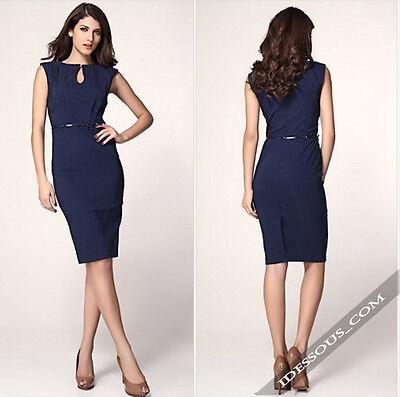 Sexy Designer Kleider (LA FERANi Sexy Designer Bussiness Dress Abendkleid Kleid blau Cocktailkleid S M)