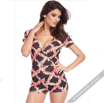 Sexy Designer Kleider (LA FERANi Designer sexy Clubwear bunt sportlich Kleid Dress Overall Damen S M)