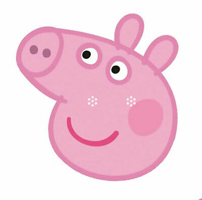 Peppa Pig Officially Licensed Single Card Party Fun Face Mask - Great for Events](Pig Masks For Kids)