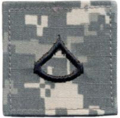 "2"" x 2"" ACU US Army E-3 E3 Private First Class Rank Insignia Hook Fastener Patch"