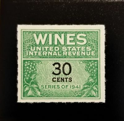 1942 30c U.S. Internal Revenue, Cordial & Wine, Green Scott RE133 Mint NH