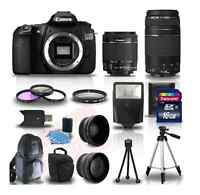 New CANON EOS 60D with special lenses, tripods, flash, etc.