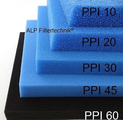 Filtermatte Filterschwamm Filterschaumstoff Filter 200x100x 2cm * PPI 20 Mittel