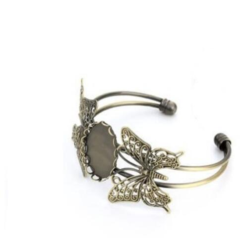 2pcsAdjustable bangle bracelet base butterfly cuff bracelet Craft Jewelry Making