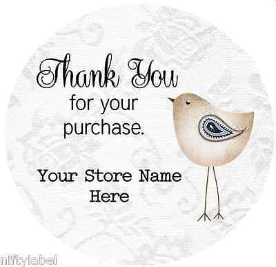 Customized Business Thank You Sticker Labels - Bird Style 2