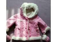 Girl's coat and hat 6-9 months