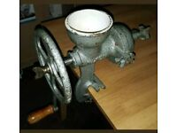 Heavy Duty Cast Iron Manual Clamp Coffee/ Corn/ Nut/ Spice Grinder - Good Condition