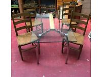 **£95** M&S Glass Top Dining Table and 4 Chairs