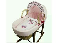 Kinder valley pink Butterfly moses basket. Brand new in sealed packs. 5 lift in stock.