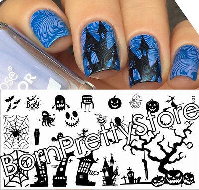 BORN PRETTY Nail Art Stamp Template Halloween Image Plate L031 12.5 x 6.5cm - Nail Art X Halloween
