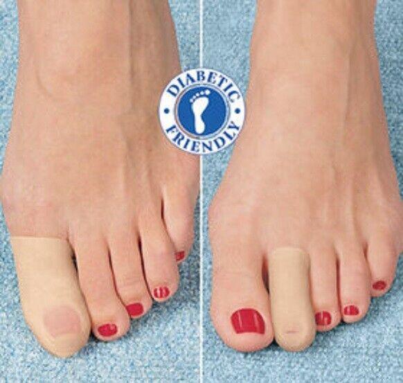Gel Toe Cap (L/XL) Set of 2 Vitamin-Enriched Mineral Oil Gel Diabetic Softens Bandages, Gauze & Dressings