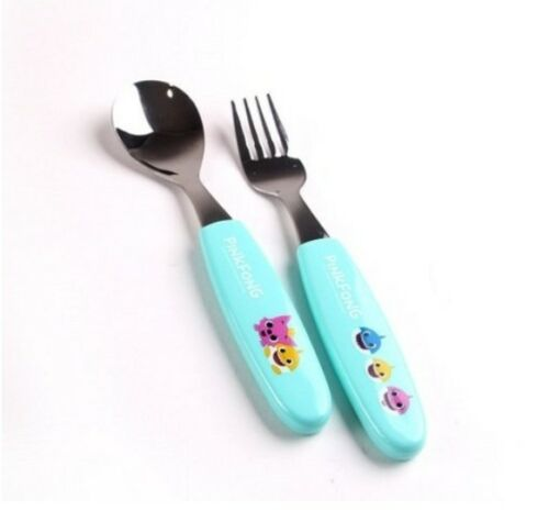 Pinkfong Baby Shark Family Spoon Fork Set For Baby Kids Korea