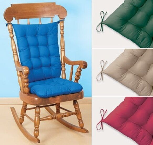 Rocking Chair Cushion Padded Set Comfy 4 Colors 2 Pieces Set