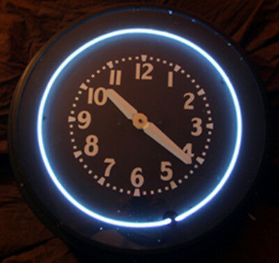 Original 1940s Lumi Dial Neon Wall Clock General Electric Refurbished Rare