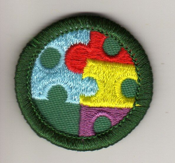 Retired Girl Scouts Junior Badge Patch~2000-2011~Creative Solutions