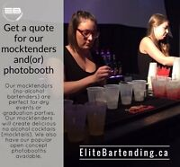 Grad Entertainment Mocktenders (No Alcohol) and Photobooths