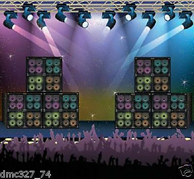 ROCK STAR 80s Party Decoration Wall Mural ROCK CONCERT BACKDROP Photo Prop  - 80s Photo Backdrop