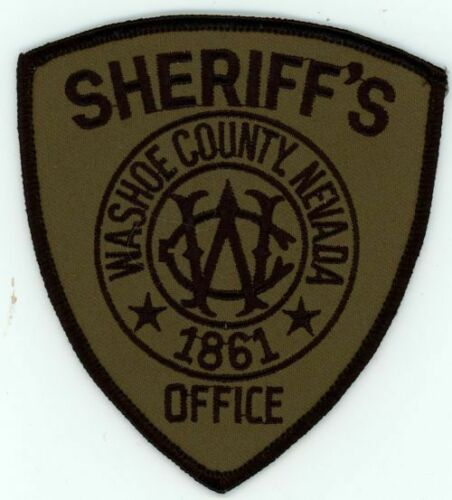 WASHOE COUNTY SHERIFF NEVADA NV SUBDUED SWAT STYLE NEW PATCH POLICE