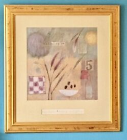 "2 x ""STUNNING"" Marti Somers Prints in Glass and Gold Frames"