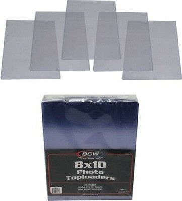 - (10) BCW TLCH-8X10 Clear Photograph Topload Holder Top Load Sleeves Display NEW