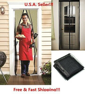 Screen Door Hands-Free Black Magic Mesh magnets For Pets STO
