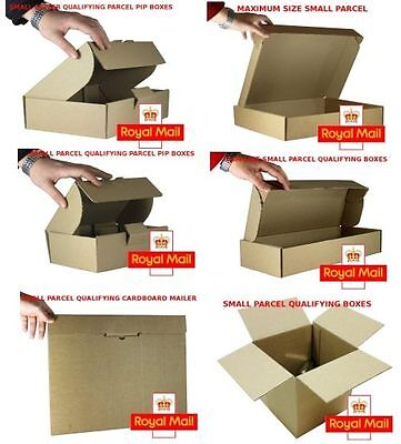 1  SAMPLE PACK of STRONG DEFENDA Royal Mail SMALL PARCEL Size PIP POSTAL BOXES
