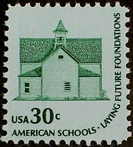 1979 MORRIS TOWNSHIP SCHOOL HOUSE NO 2 STAMP: Country Schoolhouse Devils Lake ND