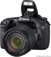 Canon 7D, lentille 15-85mm, batterie