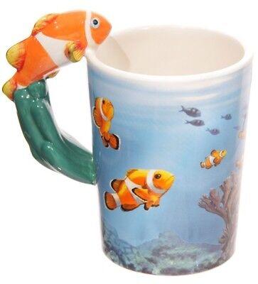 Griff Kaffeetasse Meer Aquarium Kaffeebecher Kaffee Becher (Fisch-tasse)
