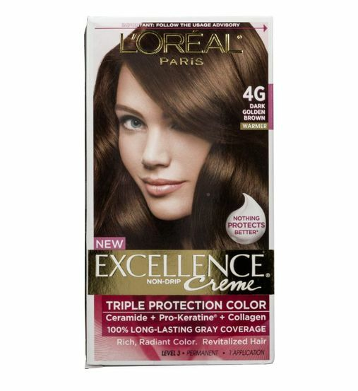 Loreal Excellence Creme 4g Dark Golden Brown Warmer Hair Color Dye  EBay