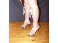 Size 9 Transparent Knee Boots