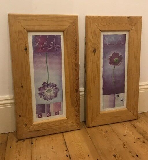 2 beautiful pine wood picture frames £10 for both