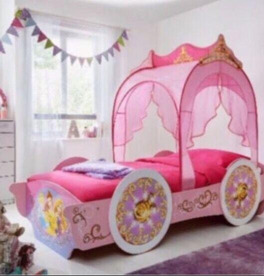 disney princess single carriage bed with canopy