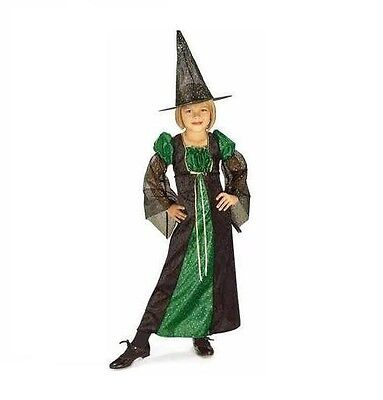 Brand New Pretty Sparkle Witch Childs Girls Halloween Costume Small size 4-6 - Witch Costumes