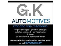 MECHANIC very realible friendly, insured. very competitive rates. Cover all over Essex