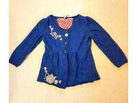 *** WHITE STUFF TEAPOT EMBROIDERED CARDIGAN- SIZE 8 ***