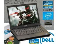 Dell E6410 i5 laptop, 4GB DDR3 RAM, 160GB HD, 14.1 LED Screen, Web Camera, DVD, MS Office, Photoshop